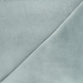 Tissu jersey velours côtelé Mellow - opaline x 10cm
