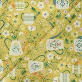 Cotton Dashwood Studio fabric - Romantic garden Hedgerow x 10cm