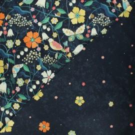 Tissu coton Dashwood Studio Hedgerow - Night garden - orange x 10cm