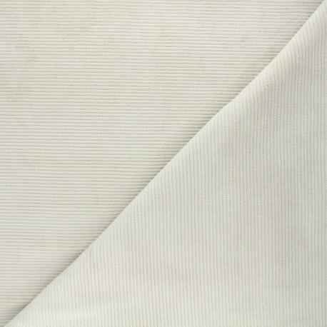 Ribbed velvet jersey fabric - greige Mellow x 10cm