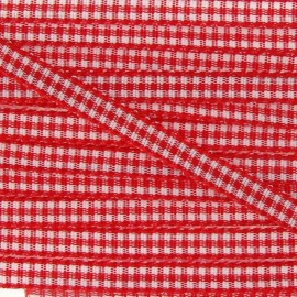 Little Gingham Ribbon 5mm - Red
