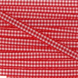 Little Gingham Ribbon 5mm - Red