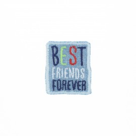 Embroidered iron-on patch - Best friends forever Best friend