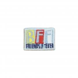 Embroidered iron-on patch - Friends for ever Best friend