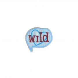 Embroidered iron-on patch - Wild Best friend
