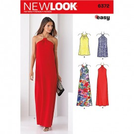 American neckline dress sewing Pattern for Woman - New Look 6372