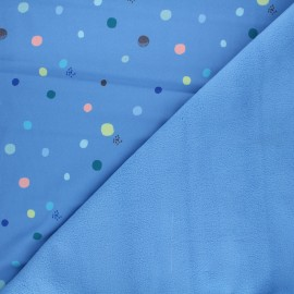 Softshell fabric - blue Ants and music x 10cm