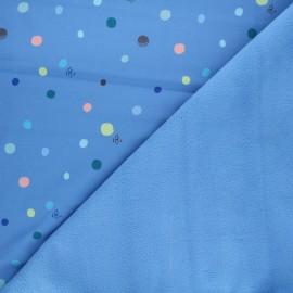 Tissu softshell Ants and music - bleu x 10cm