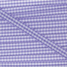 Little Gingham Ribbon 5mm - mauve