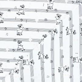 Tissu jersey Tapdancers - blanc x 10 cm