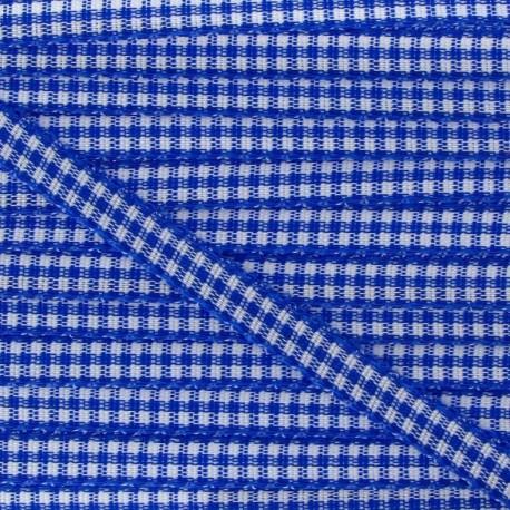 Ruban petit vichy 5mm bleu roy