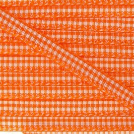 Little Gingham Ribbon 5mm - Orange