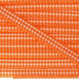 Ruban petit vichy 5mm orange