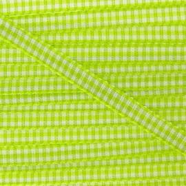 Little Gingham Ribbon - Lime