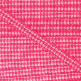 Little Gingham Ribbon 5mm - Fuchsia