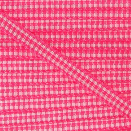 Little Gingham Ribbon 5mm - Fuchsia