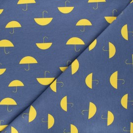Tissu sweat Umbrella - bleu x 10 cm