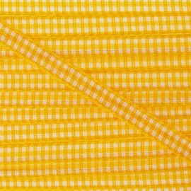 Little Gingham Ribbon 5mm - Yellow