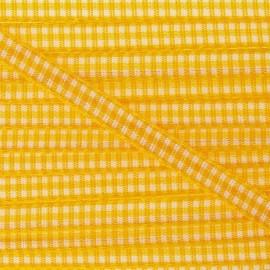 Ruban petit vichy 5mm jaune