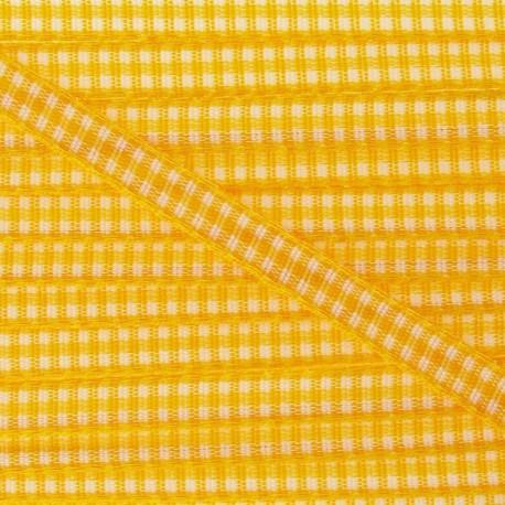 Little Gingham Ribbon 5mm - Yellow