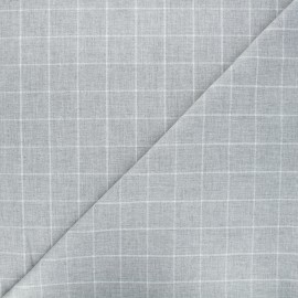 Tartan fabric - light grey Viyella x 10cm
