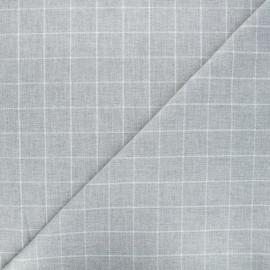 Tissu tartan Viyella - gris clair x 10cm