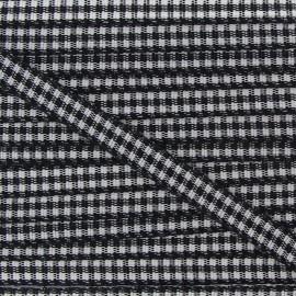 Little Gingham Ribbon 5mm - Black