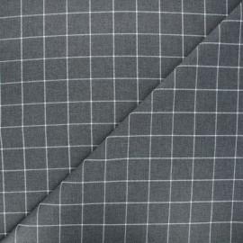 Tissu tartan Viyella - gris souris x 10cm