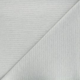 Scratched cotton fabric - light grey Viyella x 10cm