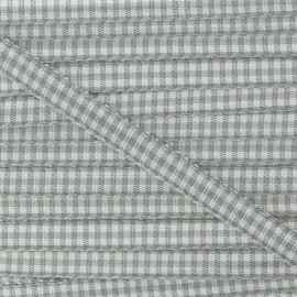 Little Gingham Ribbon 5mm - Light Grey