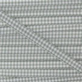 Ruban petit vichy 5mm gris clair