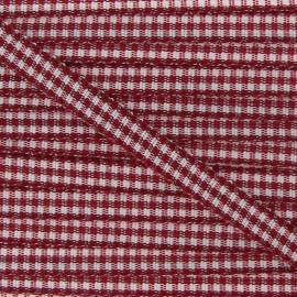 Little Gingham Ribbon 5mm - Burgundy
