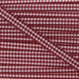 Little Gingham Ribbon 5mm - Burgundy