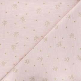 Scratched cotton fabric - light pink Ballerinas x 10cm