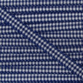Little Gingham Ribbon 5mm - Navy blue