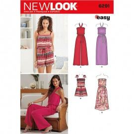 Halter Jumpsuit sewing Pattern for Woman - New Look 6291