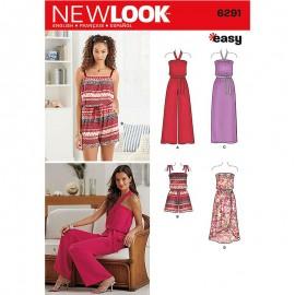 Patron Combinaison dos nu Femme - New Look 6291