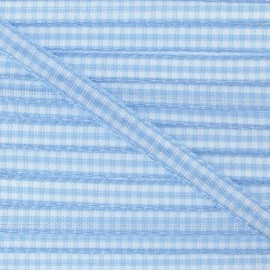 Little Gingham Ribbon 5mm - sky blue