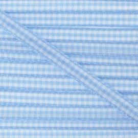 Little Gingham Ribbon 5mm - sky blue
