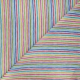 Makower UK Fabric - white Chalky stripe x 10cm