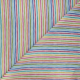 Tissu coton Makower UK Chalky stripe - blanc x 10cm