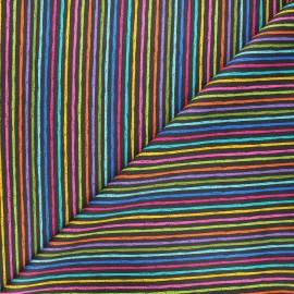 Makower UK Fabric - black Chalky stripe x 10cm