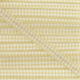 Little Gingham Ribbon 5mm - Ecru
