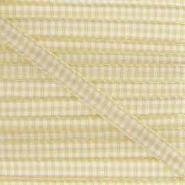 Little Gingham Ribbon 5mm - Ecru