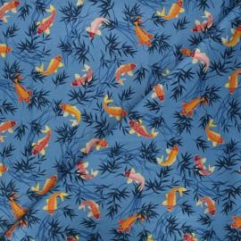 Makower UK Fabric - blue Michiko koi x 10cm