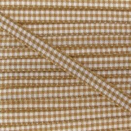 Little Gingham Ribbon 5mm - Chestnut