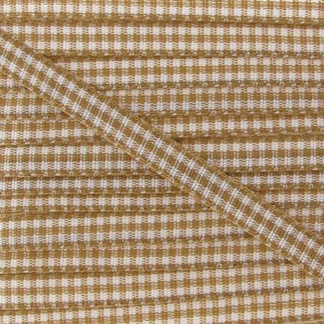 Little Gingham Ribbon 5mm - Chestnut