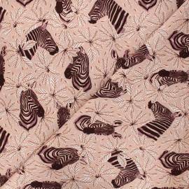 Magic of Serengeti cotton fabric - blush Happy zebra x 10 cm