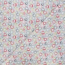 Tissu coton Makower UK Pamper hearts - blanc x 10cm