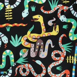 Alexander Henry cotton fabric - black Snake rattle & roll x 10 cm
